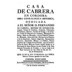 Casa de Cabrera en Córdoba