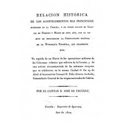 Relación histórica de los acontecimientos más principales ocurridos en La Coruña