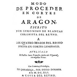Modo de proceder en Cortes de Aragón