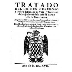 Tratado del origen generoso e ilustre linage de Vera