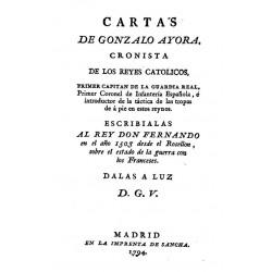 Cartas de Gonzalo de Ayora, cronista de los Reyes Católicos