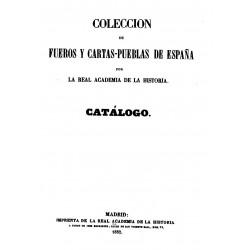 Colección de fueros y cartas pueblas de España
